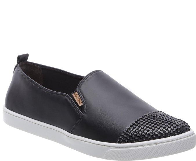 Tênis Preto Slip On Glam | Tênis slip on, Coleção de sapatos