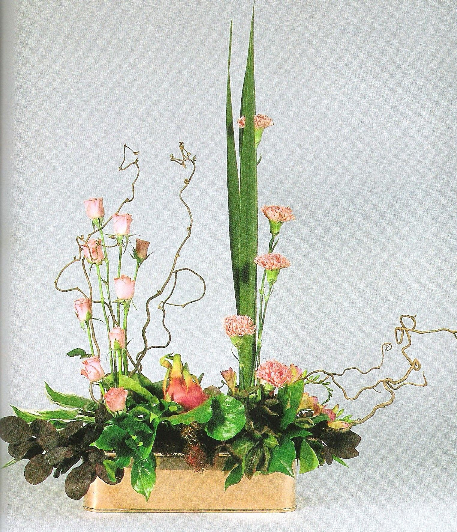 Fleurs Artificielles Design Parallel Arrangement Example Art Floral Composition