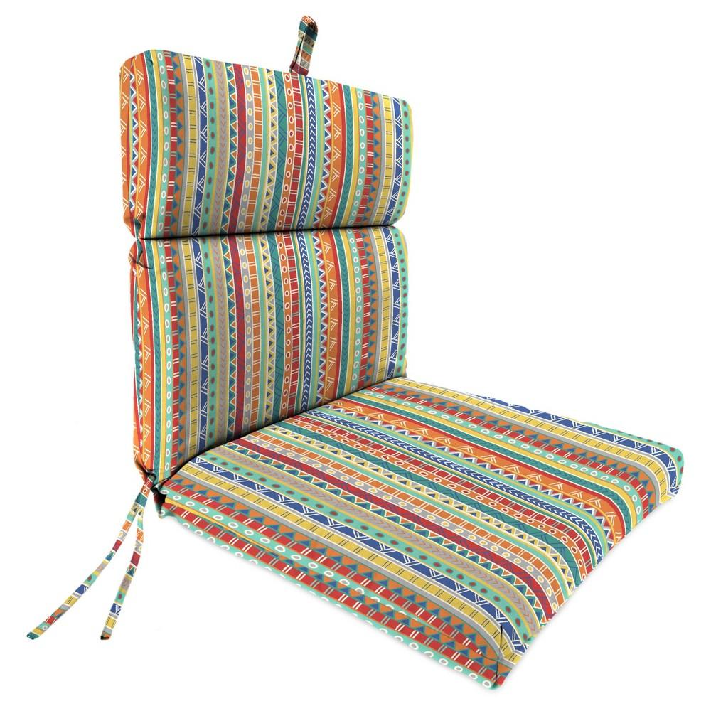 Outdoor French Edge Dining Chair In Bramlett stripe
