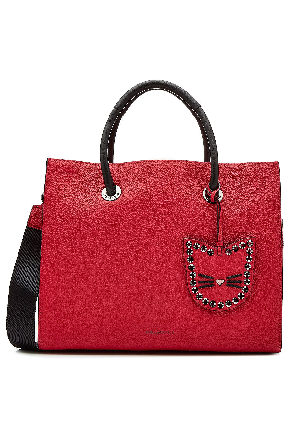 K/Karry All Shopper Bag in Black Pebble Leather Karl Lagerfeld cdtGu