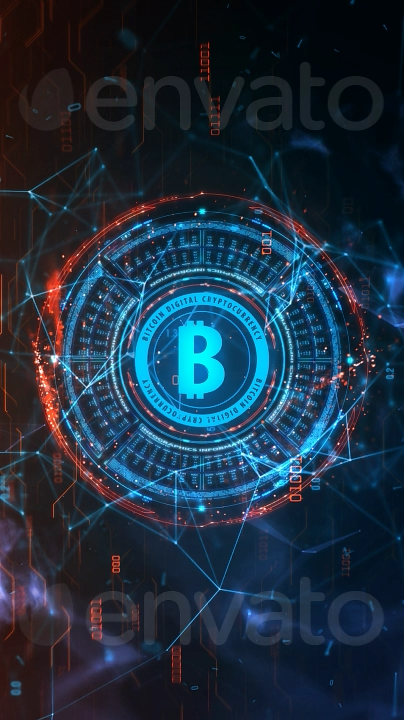 Bitcoin HiTech Motion Background #motiongraphic