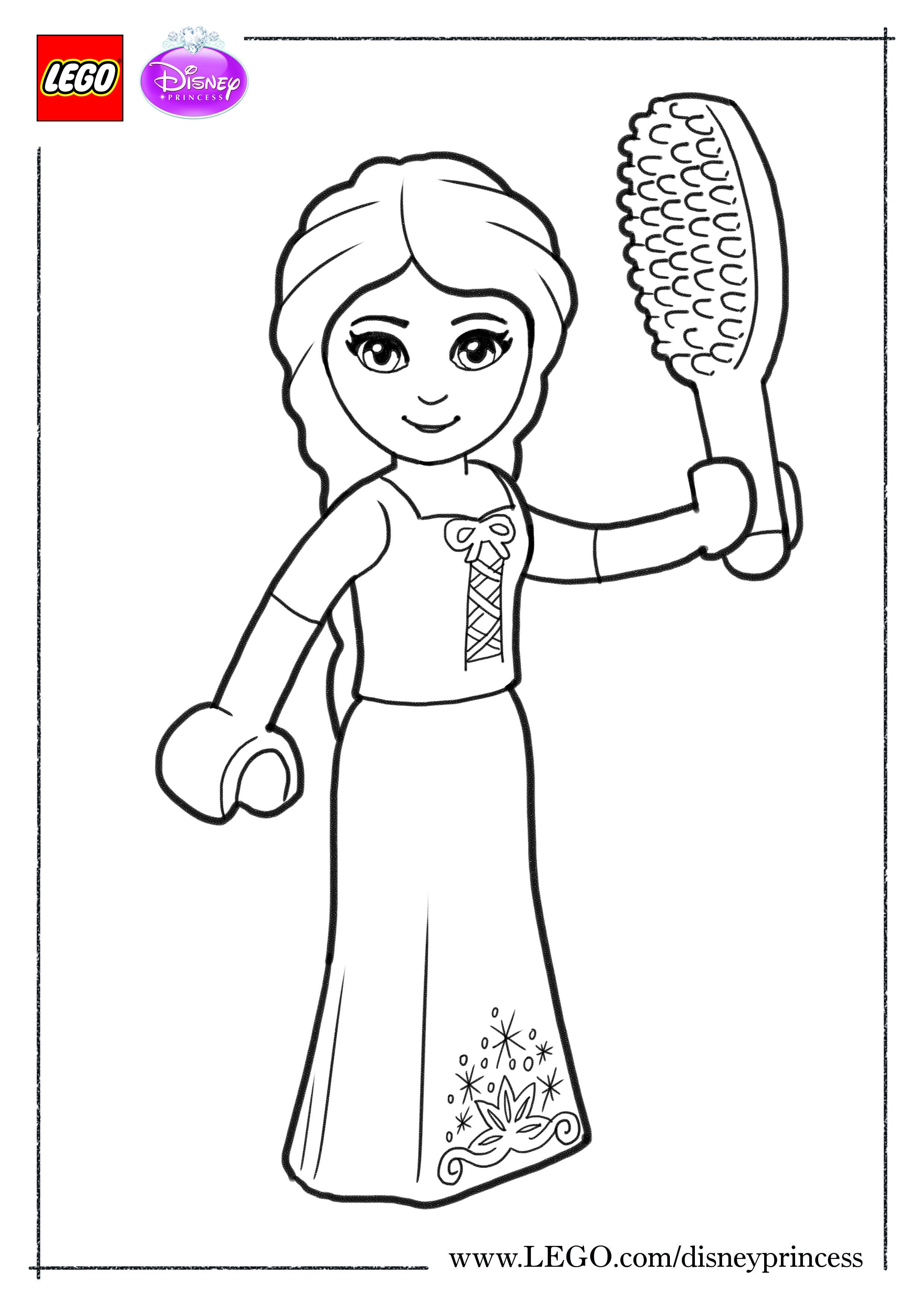 Print And Colour Our Lego Disney Princess Rapunzel Disney