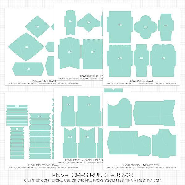 Want Envelopes Bundle {SVG} studio files $1198 #Silhouette - money envelope template