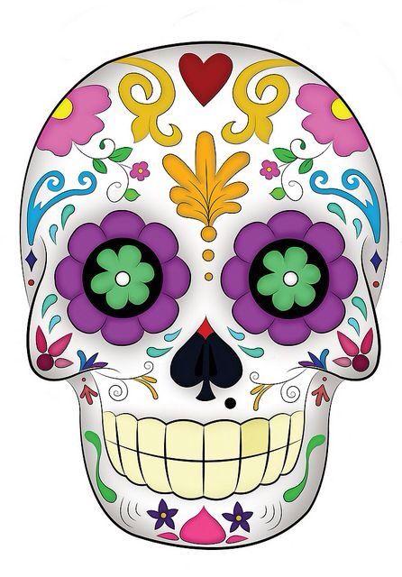 Colors Sugar Skull Art Skull Day Of The Dead Skull