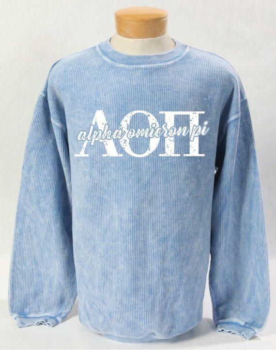 Alpha Omicron Pi Corded Sweatshirt Alpha Omicron Pi Pinterest
