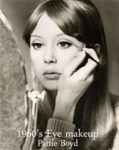 1960's Eye Makeup Tips - Pattie Boyd | Makeup | 1960s makeup, 60s