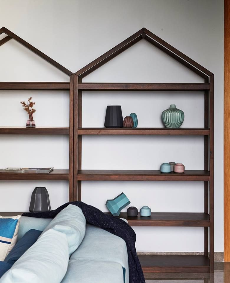 Show and tell. Commune\'s walnut wood House Shelves are great for ...