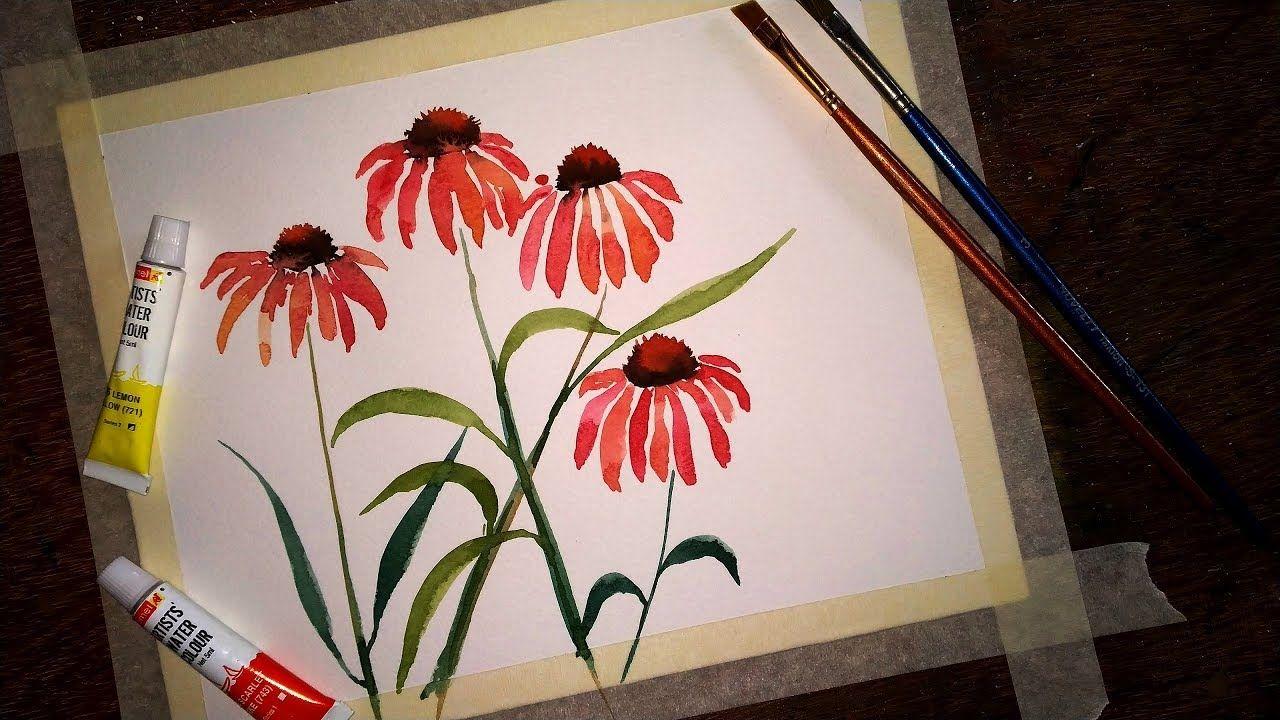 Easy Watercolor Flowers Step By Step Tutorial Easy Watercolor