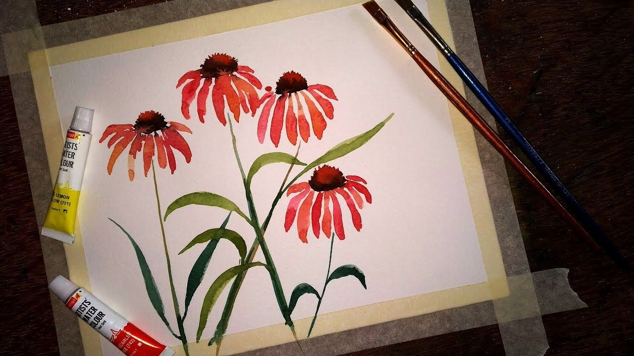 Simple And Easy Flower Painting With Watercolor Paint With David
