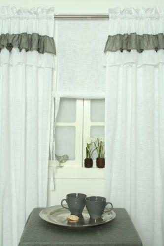CAROL*Vorhang*Gardine*120x240*Volant*Landhaus*Shabby Chic*Vintage - gardinen vorhänge wohnzimmer