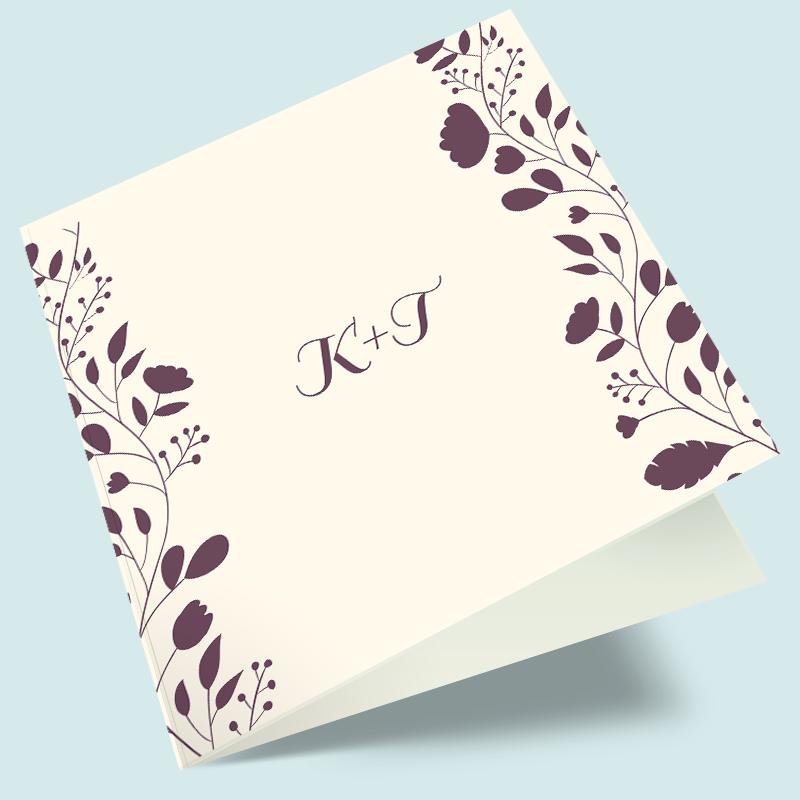 Hochzeitseinladungen Mit Blumenranken   Einladungskarten Bestellen