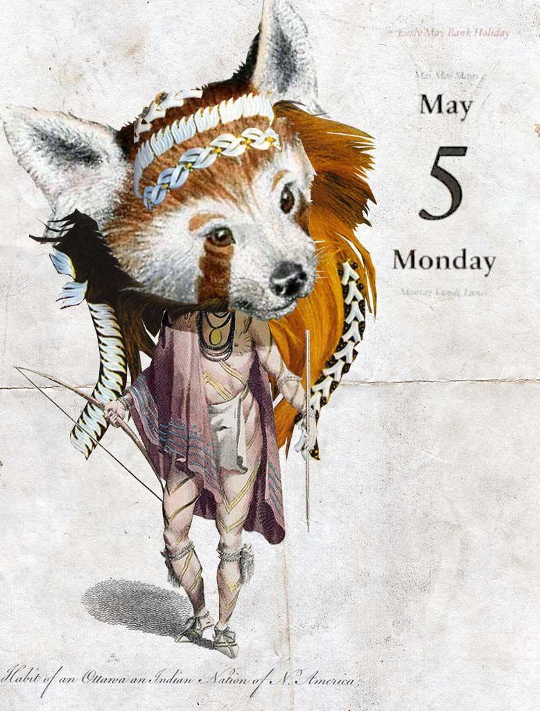 05/05/2014 Miembro de la tribu Foxy Lady #collage illustration collage by Gustavo Solana