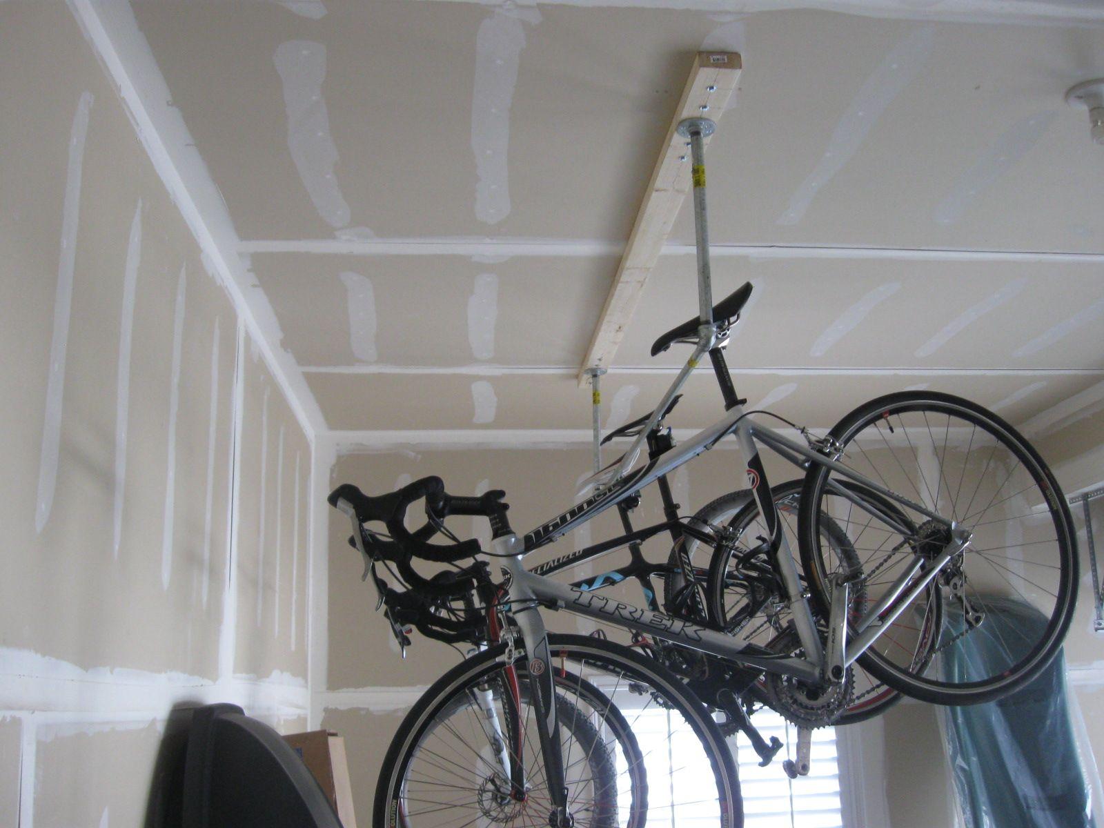 DIY Homemade Garage Bike Rack
