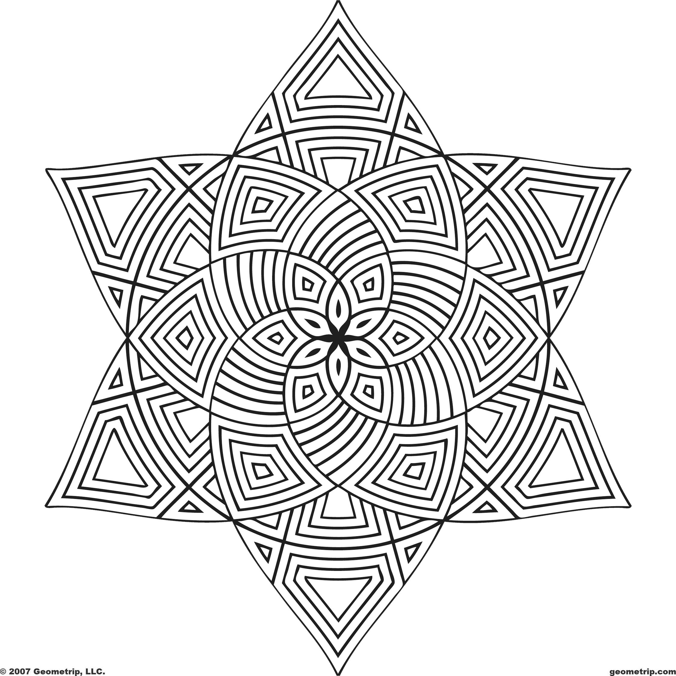Pin by Susanne Nilsen on Colouring pages  Geometric coloring