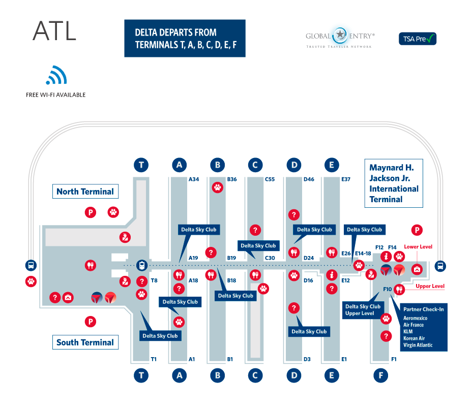 Atl Airport Map Atlanta Airport Map | Delta | Atlanta airport, Las vegas trip  Atl Airport Map