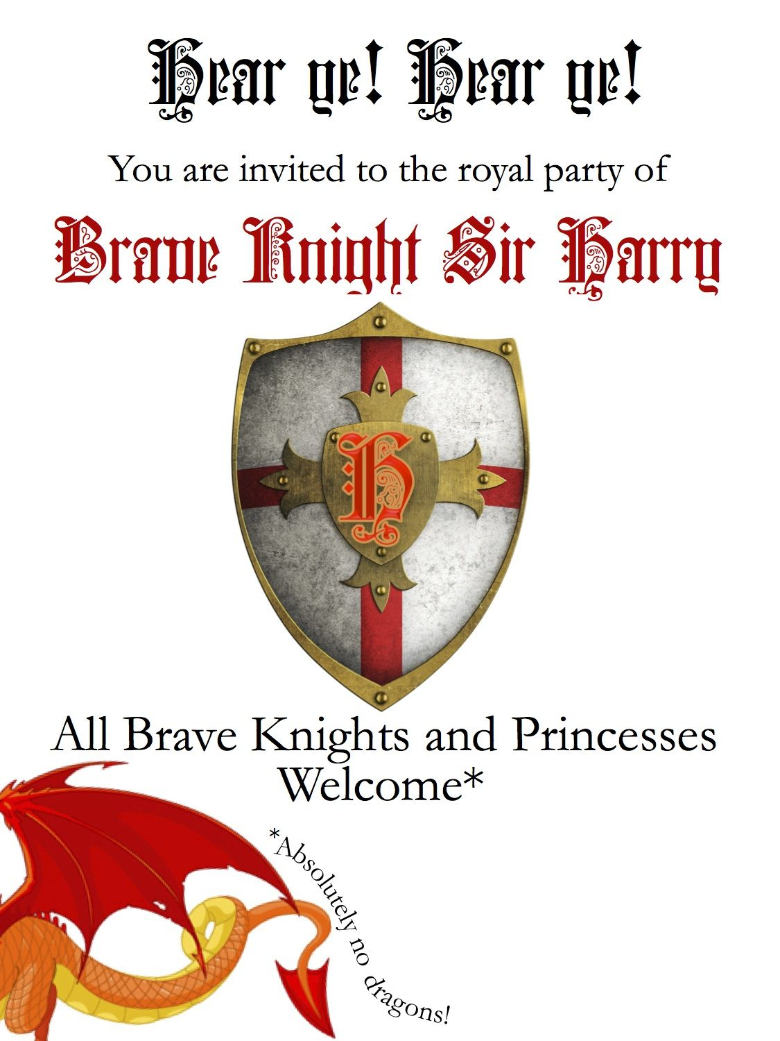 Knights Party Invitation | Party ideas | Pinterest | Knight, Party ...