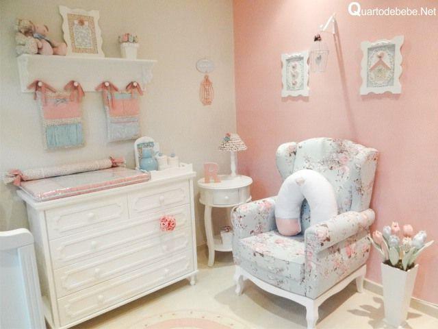Deko Kinderzimmer E   Enxoval De Bebe Fino Azul E Rosa Com Flores E Poas Kinderzimmer