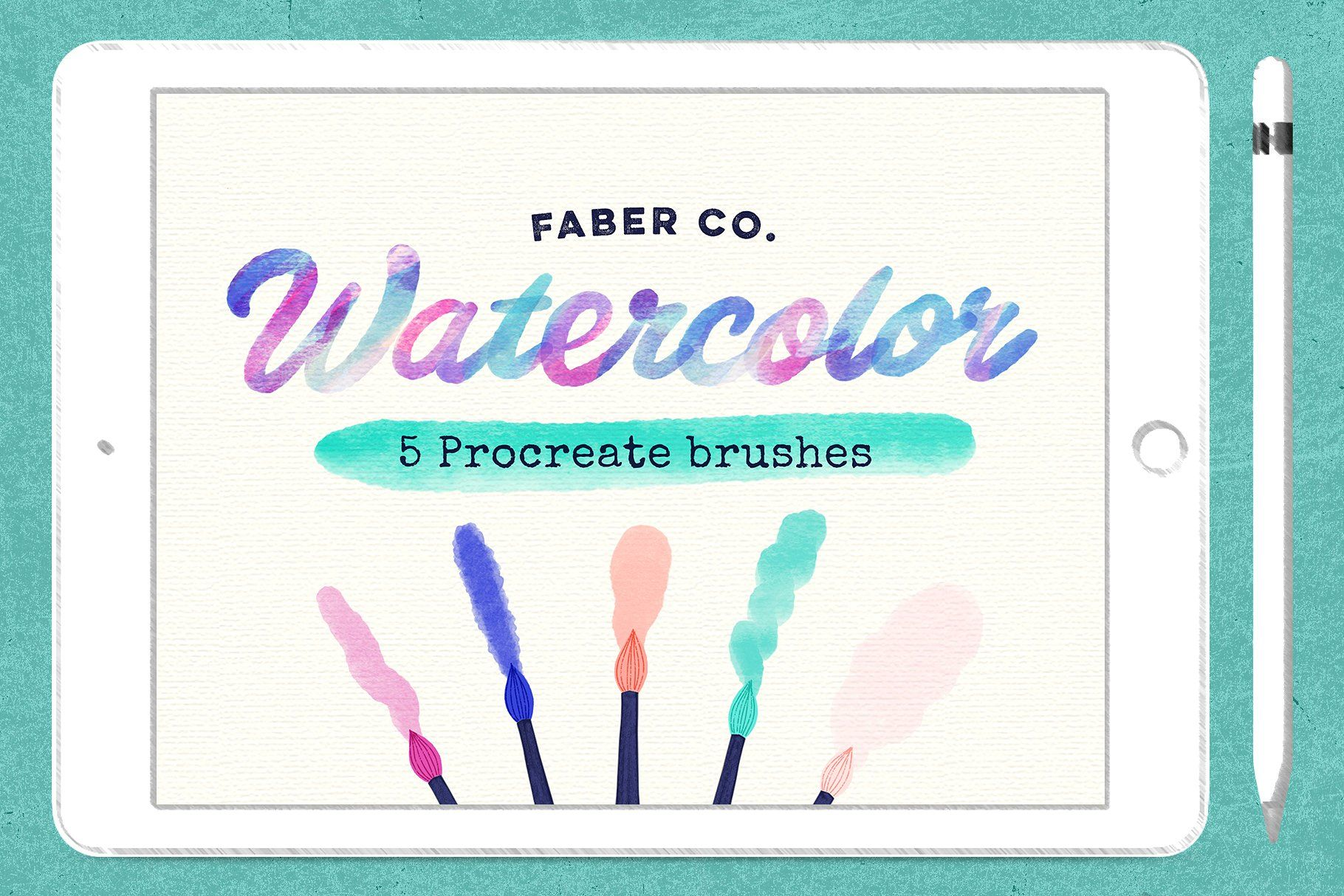 Procreate Watercolor Brushes By Faber Co On Creativemarket