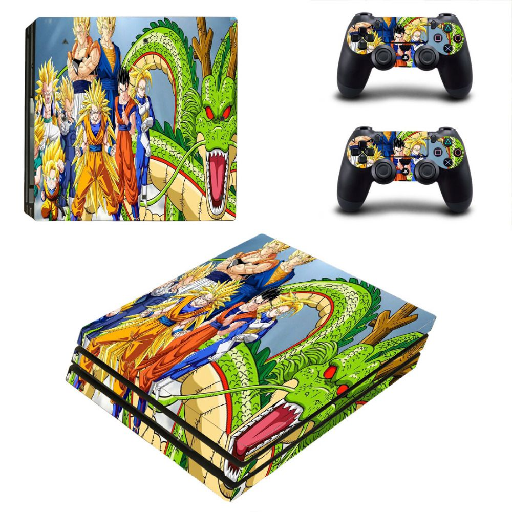 Anime dragon ball ps4 pro skin sticker decal for sony ps4