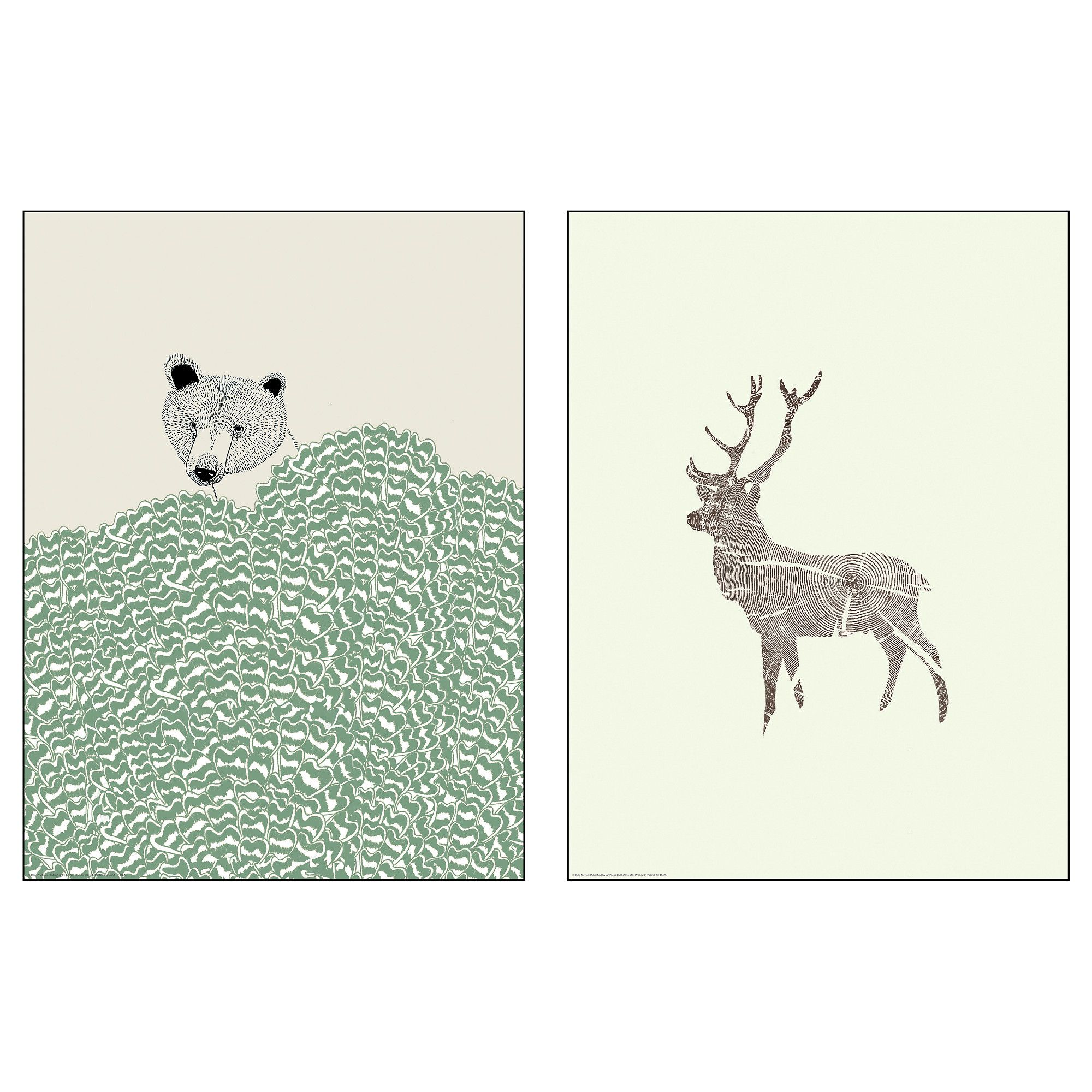 TVILLING Poster, set of 2 Wild animals 30x40 cm - IKEA | Hygge ...