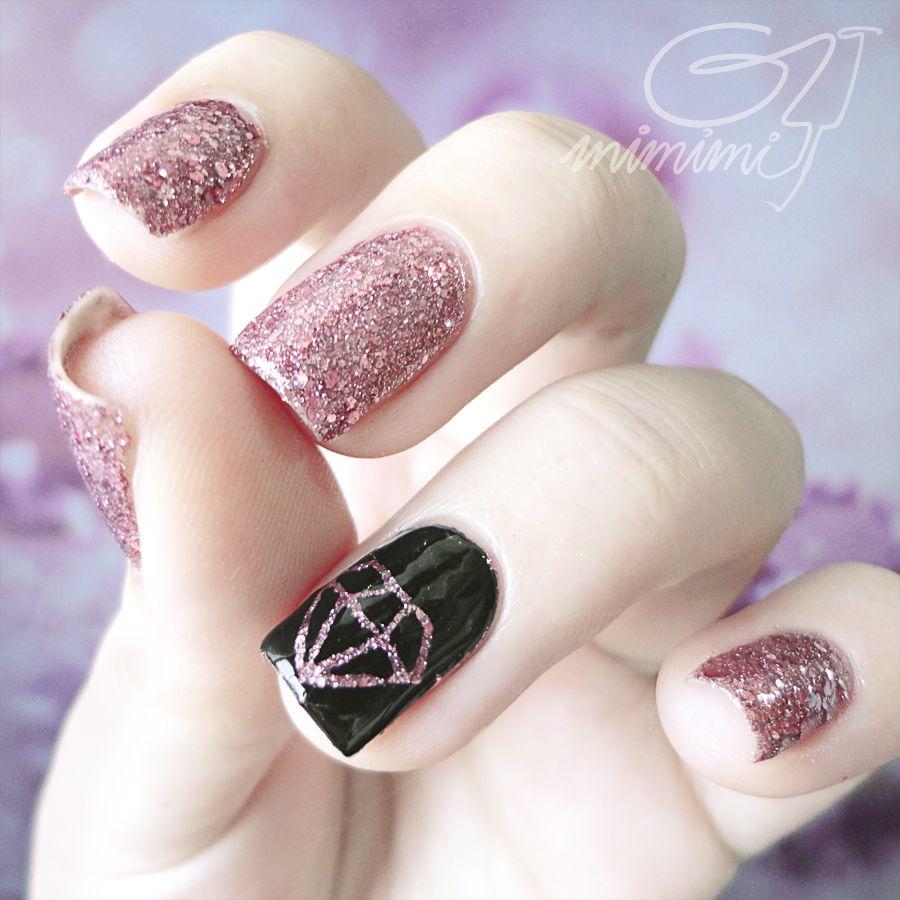 Damond Design | Nail Ideas | Pinterest | Diamond nail art, Diamond ...