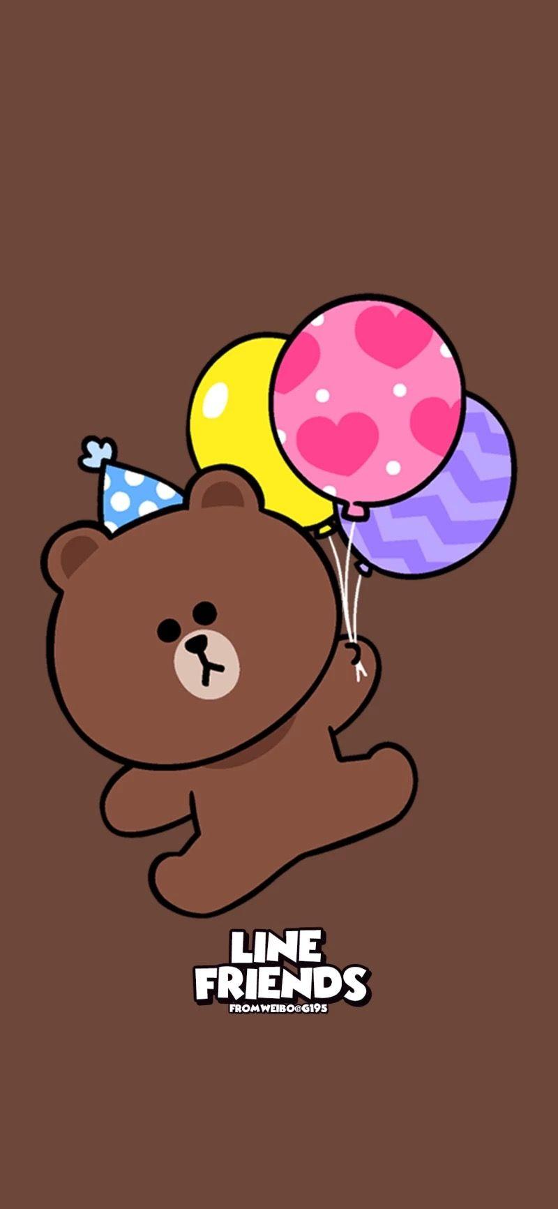 Pin Oleh Elaine Di Wallpaper Line Beruang Coklat Kartun Gambar Animasi Kartun