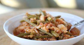 "One-Pot Italian Cauliflower ""Potatoes"" & Green Beans| Heatherpierceinc.Com"
