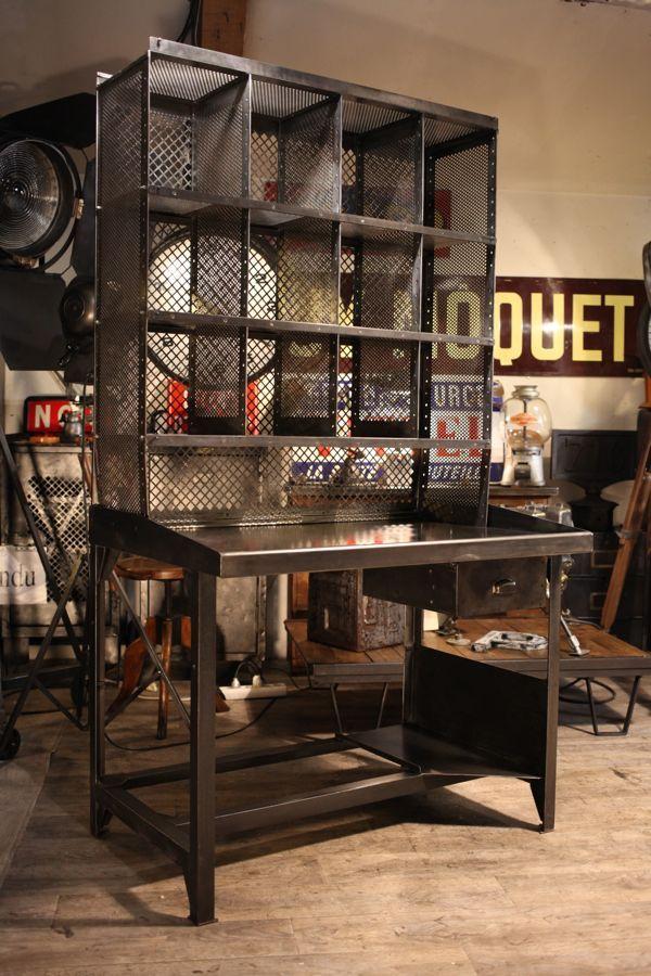 Meuble Industriel De Tripostal Deco Loft Industrial Decor Rustic Industrial Kitchen Industrial Style Decor