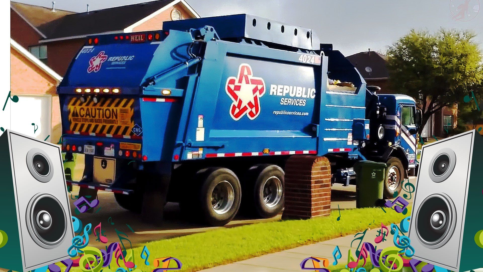 Garbage Truck Song For Kids Videos Children Sr