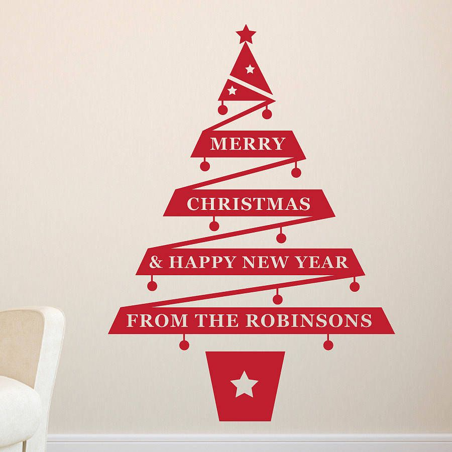 Decorating ideas awe inspiring red christmas tree form wall decorating ideas awe inspiring red christmas tree form wall sticker for cool simple minimalist amipublicfo Image collections
