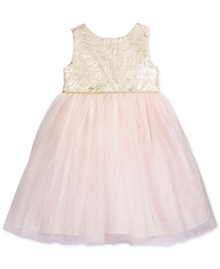817ba13de5 Marmellata Little Girls  Brocade-Top Dress
