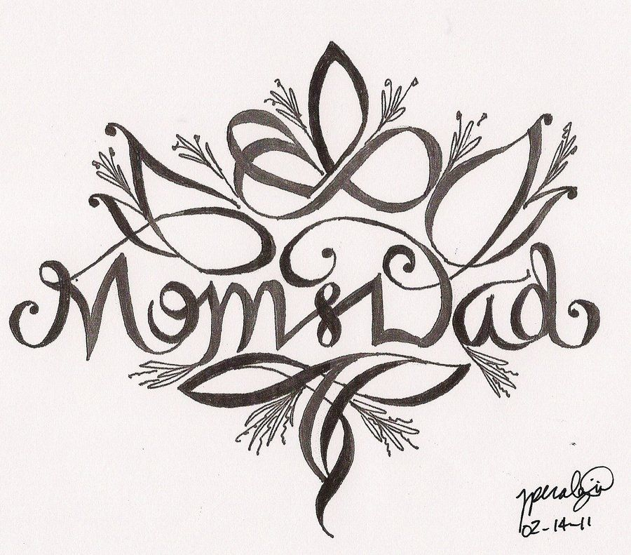 Valentine S Day Mom And Dad By Rper782786 On Deviantart Dad Tattoos Mom Tattoos Mom Dad Tattoo Designs