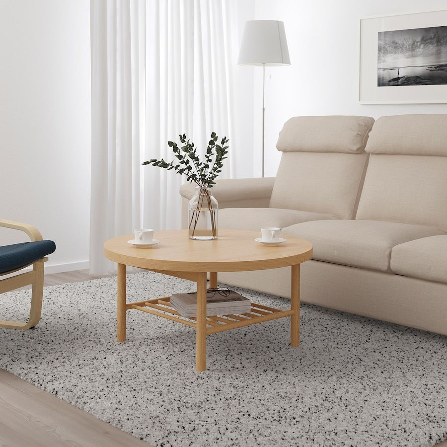 Listerby Coffee Table White Stained Oak 35 3 8 Ikea In 2021 Coffee Table Coffee Table White Ikea Coffee Table [ 900 x 900 Pixel ]