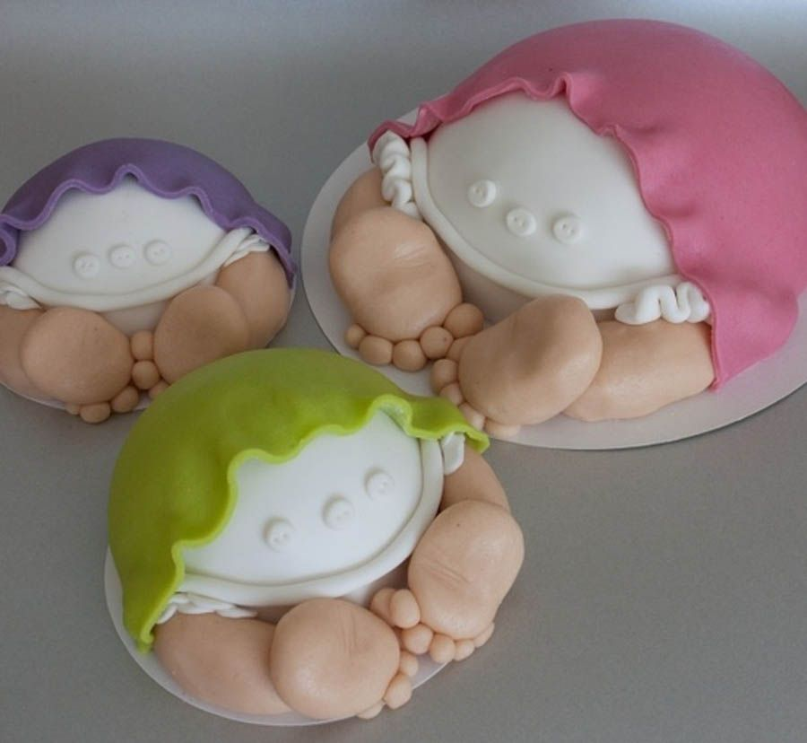 Easy fondant baby shower cake decorations decorated cake for Baby cake decoration ideas