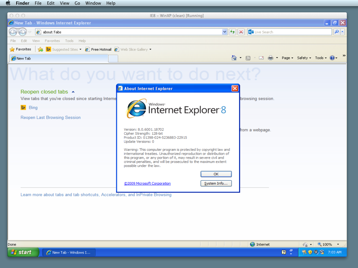 How to run Internet Explorer in Mac OS X (for free) | OS X