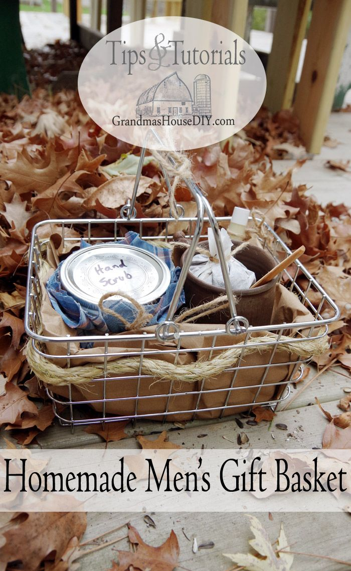 Homemade mens gift basket for the guys in our lives homemade homemade mens gift basket do it yourself present solutioingenieria Choice Image