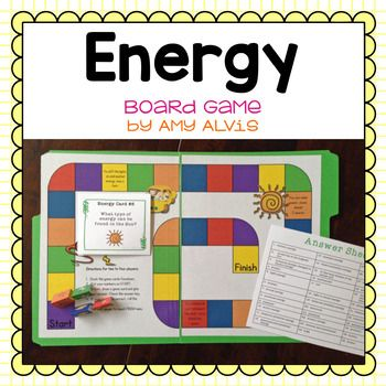 Energy Board Game Potential Kinetic Transformations Kinetic