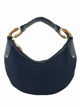 ff10ae449 Gucci Gg Monogram Canvas Bamboo Ring Medium Hobo Bag. Hobo bags are hot  this season! The Gucci Gg Monogram Canvas Bamboo Ring Medium Hobo Bag is a  top 10 ...