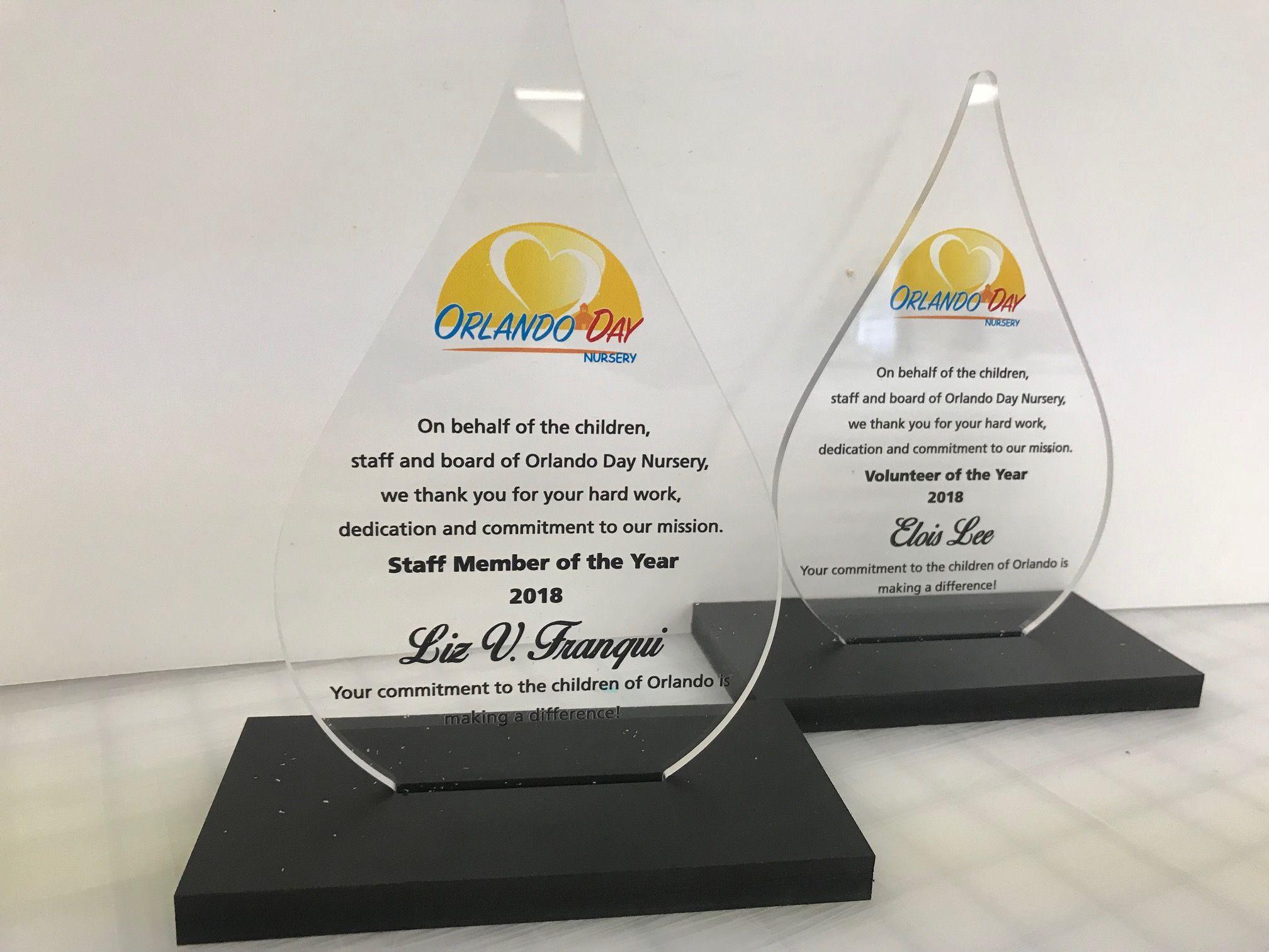 Beautiful Acrylic Awards For The Orlando Day Nursery Gala Fastsignsdidit