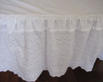 lace bedskirts crib bed skirts dust ruffle white shabby