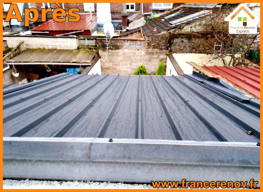 Rénovation d'une toiture d'extension bac acier isolé à Croix   Toiture, Bac acier isolé, Bac