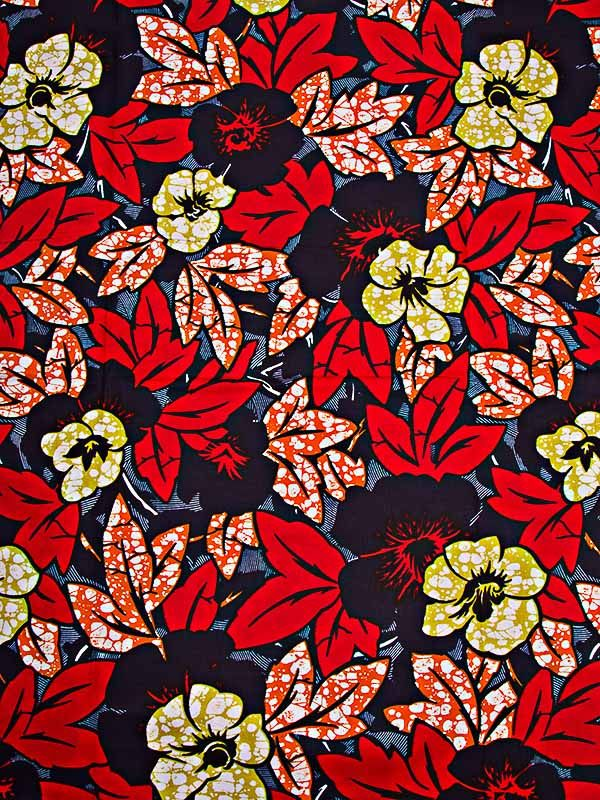 African Fabric Super Deluxe Wax Print 6 Yards 100% Cotton for Wedding sw091058_1