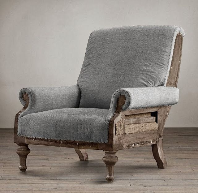 12 Awesome Décor Ideas For A Headstart On The Steampunk: 551 East Furniture Design Velvet Deconstructed Armchair. I