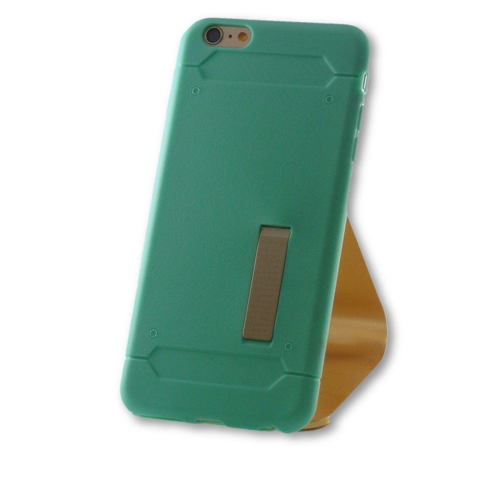 iPhone 6 Plus/6S Plus Mint Green Slim Kick Stand TPU Case