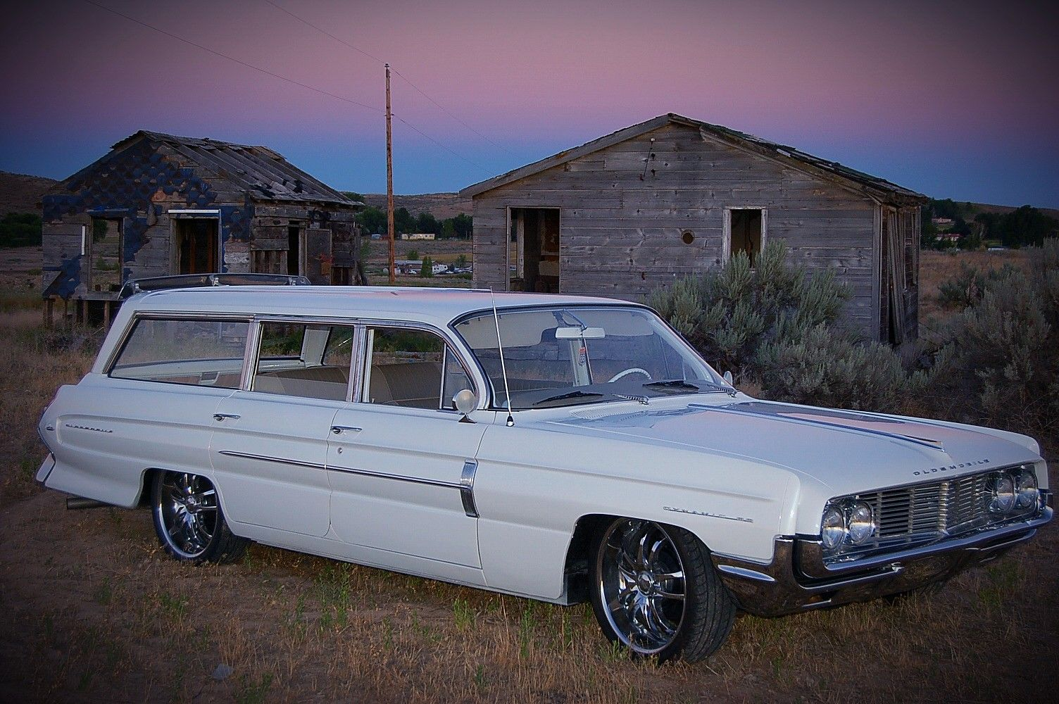 1962 Oldsmobile Dynamic 88 Fiesta Station Wagon White, for sale in ...