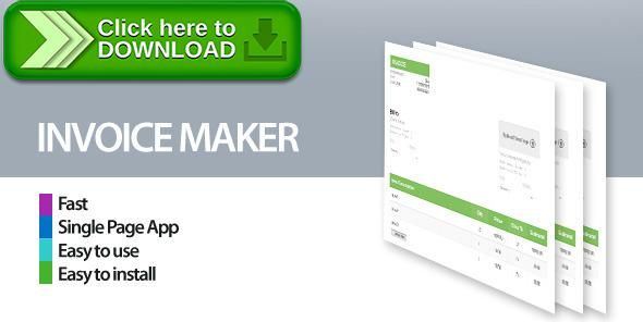Free nulled Invoice Maker Creator download Invoice maker and - Pdf Invoice Creator