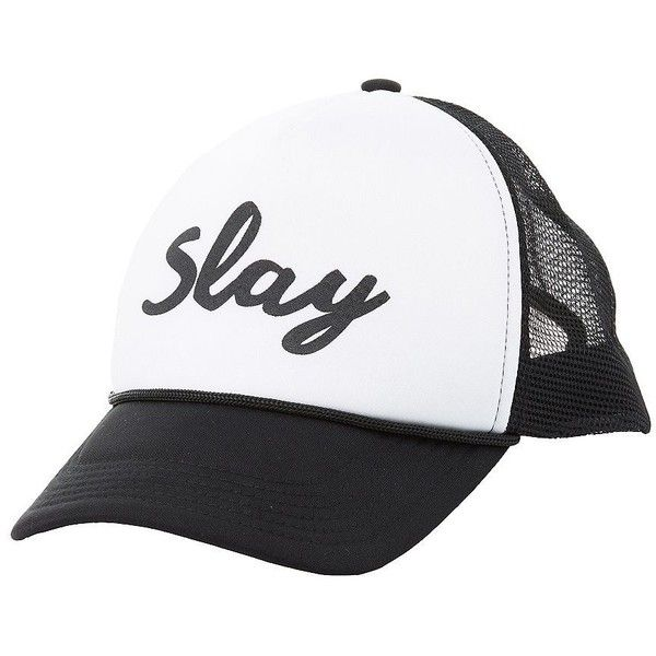 Charlotte Russe Slay Trucker Hat ( 8.99) ❤ liked on Polyvore featuring  accessories 8788ac19615