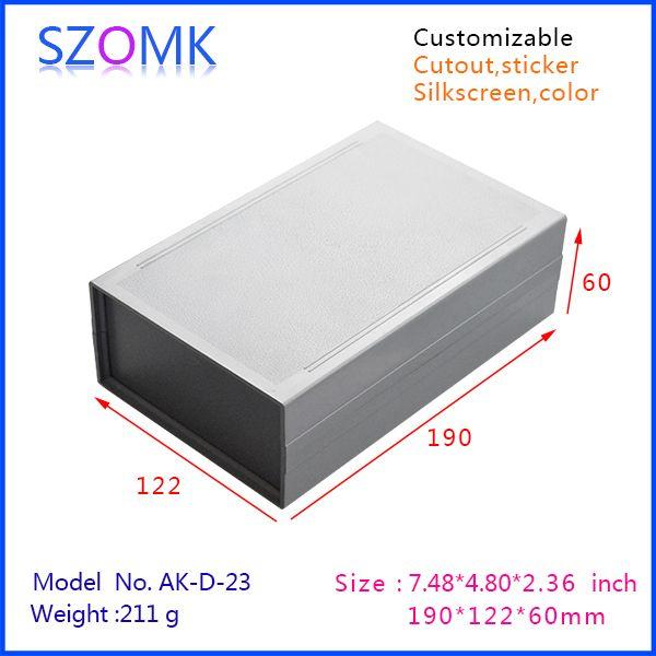 Szomk Electronics Abs Plastic Housing Box 1 Pcs 190 122 60mm Szomk 2015 New Enclosure Control Box Plastic Outlet Junction Boxes Light Sensor Box