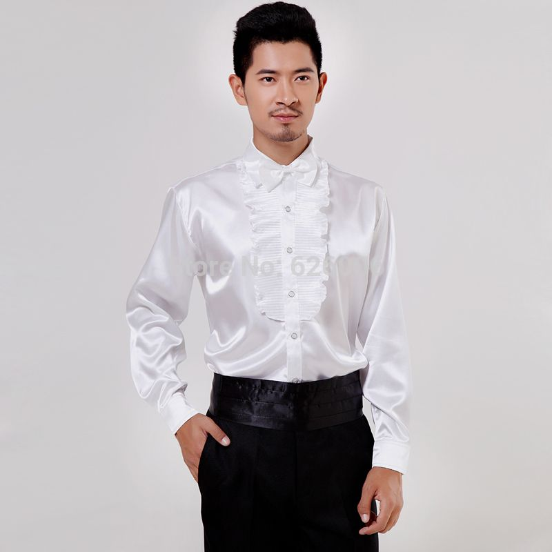 Ruffle dress shirts for men pictures to pin on pinterest for Frilly shirts for men