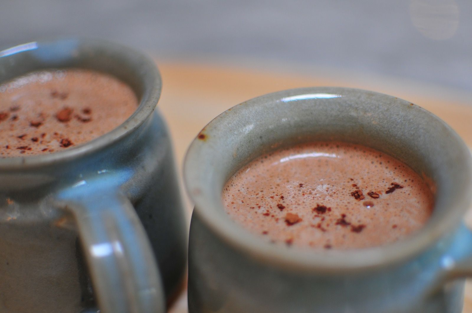 Raw hot chocolate - a hug in a mug.  Warming, creamy and decadent and totally good for you. #rawfood #healthyeating #rawhotchocolate